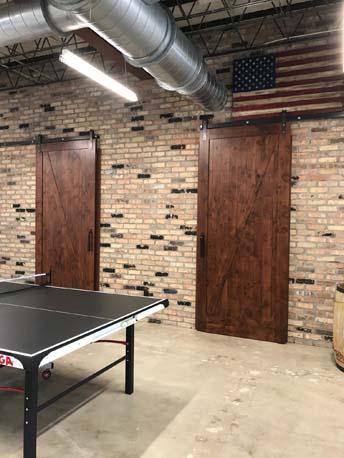 MJS ping pong table door
