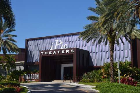 iPic theaters building and driveway