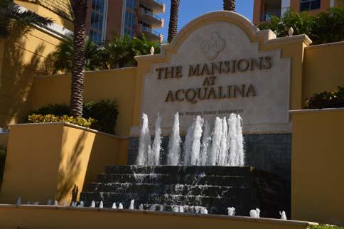 Mansions at Aqualina sign