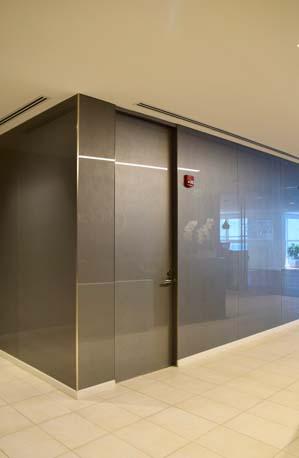 BTG Pactual silver door corner view