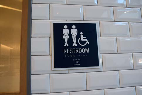 Casa Tua bathroom sign