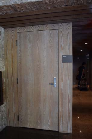 Brickell City Center wood door 2