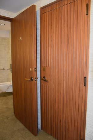 Brickell City Center wood panel double door