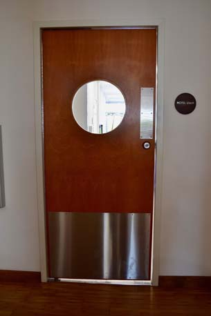 TRYP Hotel door circle window closed