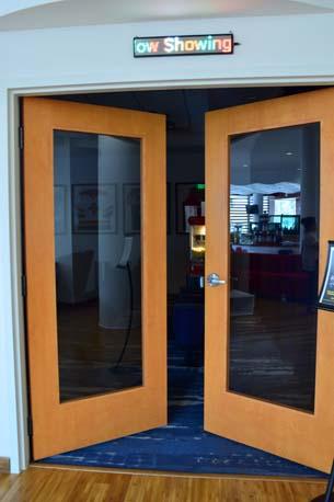 TRYP Hotel office double door open