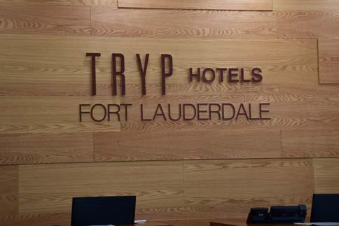 TRYP Hotel indoor sign horizontal