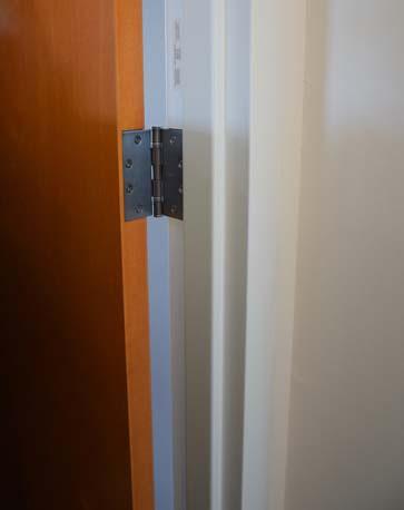 TRYP Hotel wood door hinge
