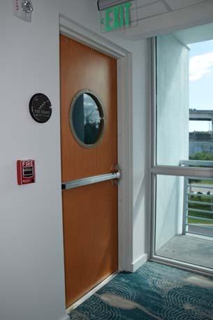 TRYP Hotel wood stair door