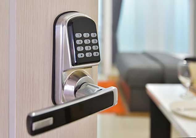 door handle with keycode